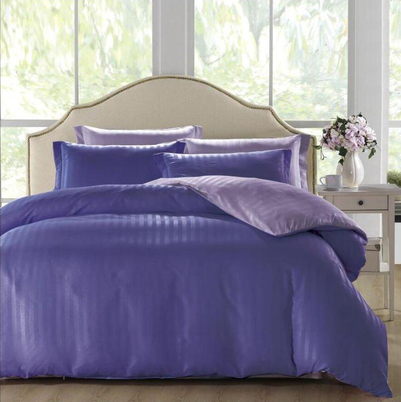 Комплект белья ЭГО Кадис, 2-спальный, наволочки 70х70, цвет: сиреневый