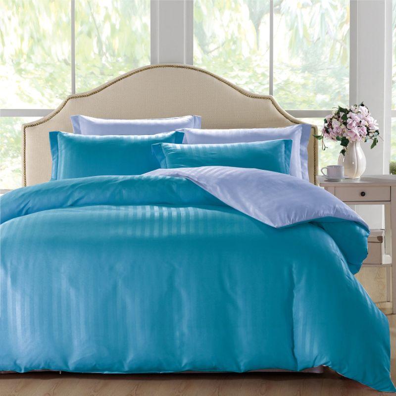 Комплект белья ЭГО Севилья, 2-спальный, наволочки 70х70, цвет: бирюзовый
