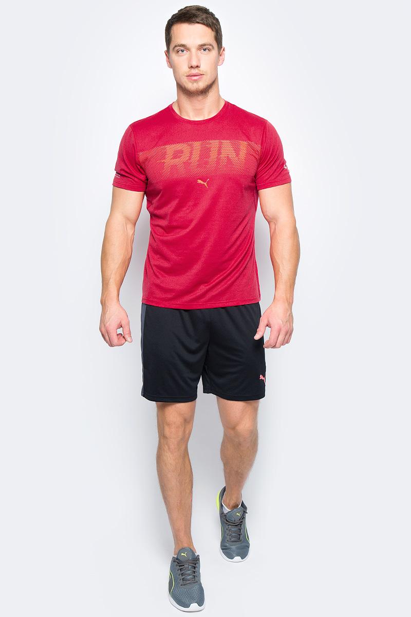 Футболка мужская Puma Run S/S Tee, цвет: красный. 51555503. Размер M (46/48)51555503Легкая футболка от Puma изготовлена из мягкого, приятного на ощупь материала, отлично пропускающего воздух, быстро впитывающего и испаряющего влагу. Она позволит оставаться сухим во время интенсивных тренировок, чувствовать себя комфортно и сделать занятия спортом более эффективными. Плоские швы предотвращают натирание и раздражение кожи. Светоотражающие элементы для улучшения видимости.