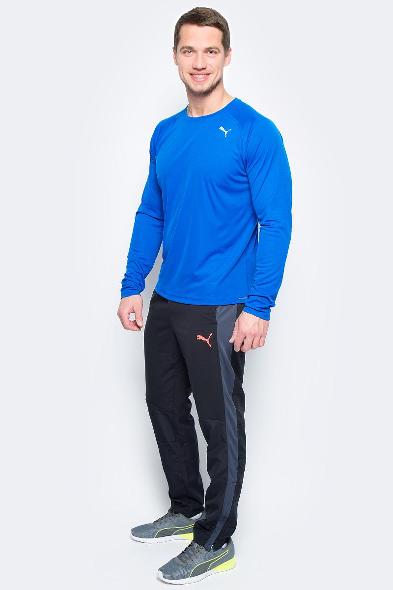 Лонгслив мужской Puma Core-Run L/S Tee, цвет: голубой. 51501003. Размер XXL (52/54)51501003Изделие изготовлено с использованием высокофункциональной технологии DryCell, которая отводит влагу, поддерживает тело сухим и гарантирует комфорт во время активных тренировок и занятий спортом. Легкий супердышащий материал изделия прекрасно держит форму и обеспечивает полный комфорт. Логотип и другие декоративные элементы, в том числе, петлица сзади на горловине, выполнены из светоотражающего материала и позаботятся о вашей безопасности в темное время суток. Также ворот отделан клеящейся тесьмой. Плоские швы не натирают кожу и обеспечивают непревзойденный комфорт. Удобный покрой рукавов-реглан не стесняют движений.
