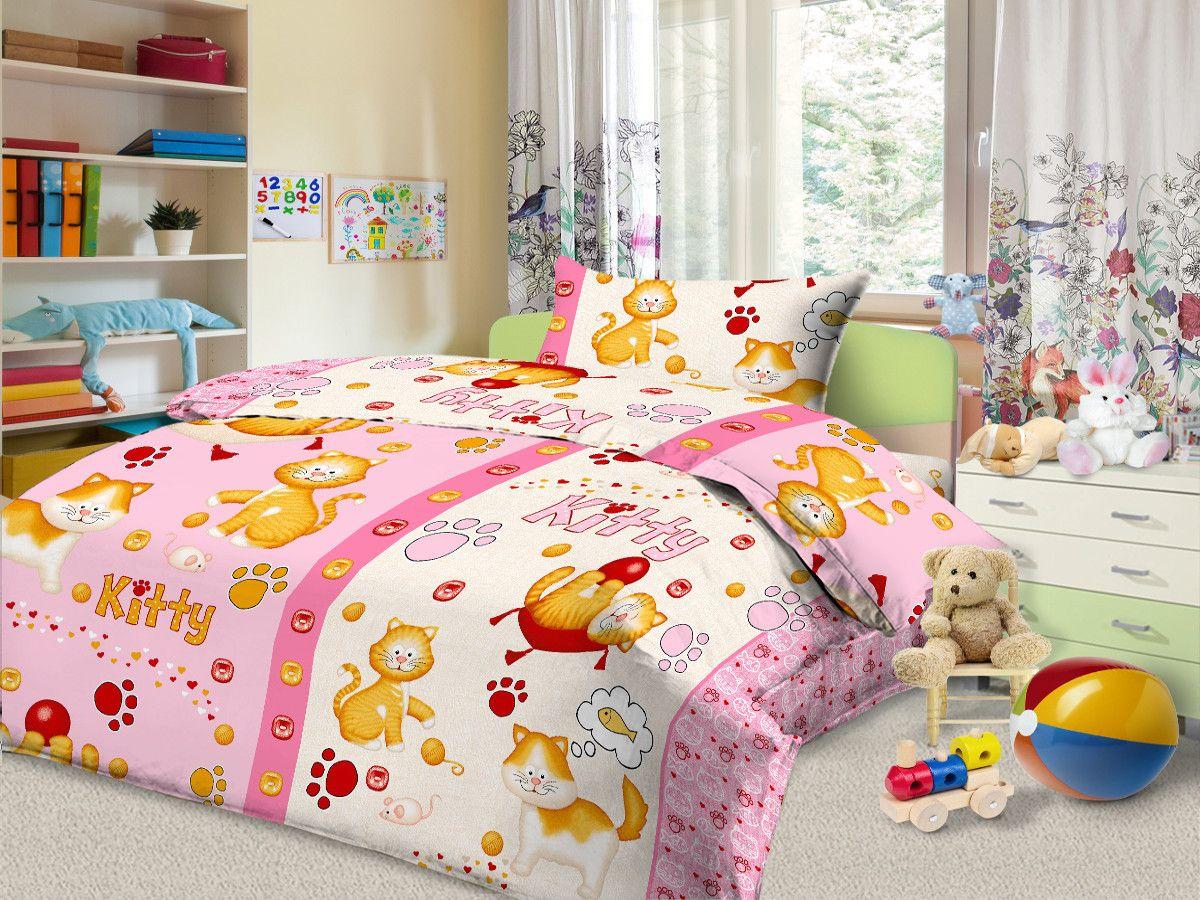 Cleo Комплект в кроватку Китти Митти 3 предмета цвет розовый