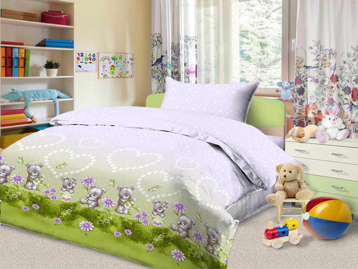 Cleo Комплект в кроватку Доброта 3 предмета цвет сиреневый