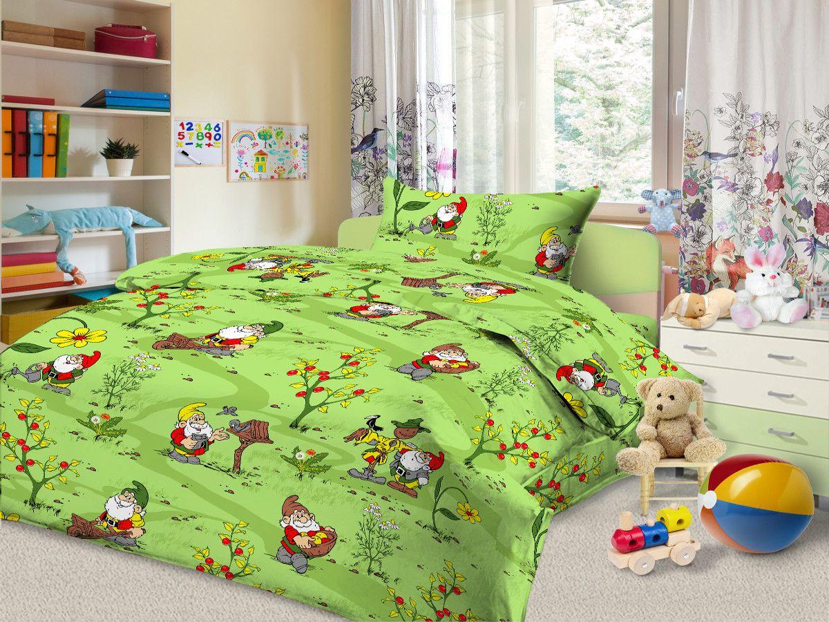 Cleo Комплект в кроватку Гномы 3 предмета цвет зеленый