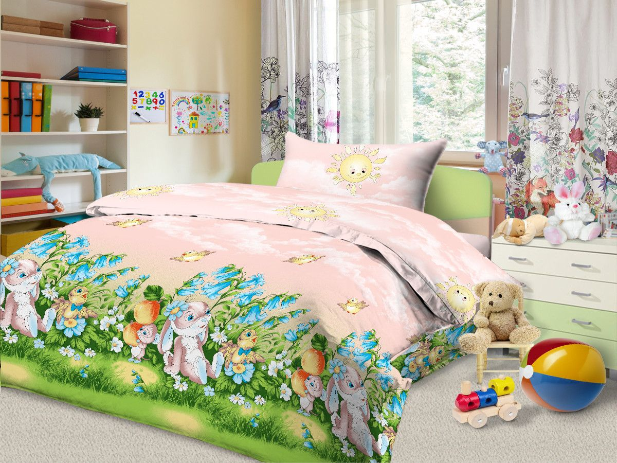 Cleo Комплект в кроватку Полянка 3 предмета цвет розовый56/030-baКоллекция Cleo для самых маленьких разнообразна в своей цветовой гамме, нежные и красочные, для мальчиков и девочек, а милые и очаровательные волшебные персонажи не дадут вашему малышу скучать. Благодаря пигментному способу нанесение печати, даже после многократных стирок (деликатный режим), постельное белье сохраняет свой первоначальный вид. Постельное белье выполнено из натуральных тканей из 100% Хлопка. Бязь – 100% Хлопок, и имеет ряд уникальных свойств: экологичность, гипоаллергенность, благодаря особому способу переплетения нитей в полотне, обеспечивается особая плотность ткани, что делает ее устойчивой к износу, сохраняется внешний вид на долгие годы, загрязнения прекрасно отстирываются любыми средствами, не садится, легко гладится, не накапливает статического электричества, благодаря составу из 100% хлопка, обладает исключительной терморегуляцией и создаст комфорт вашему малышу во время сна!