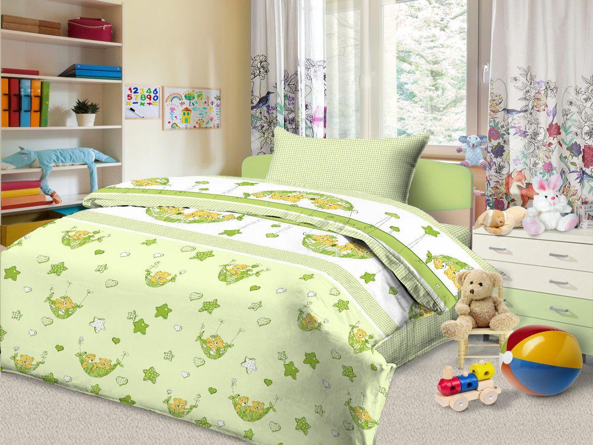 Cleo Комплект в кроватку Соня 3 предмета цвет зеленый