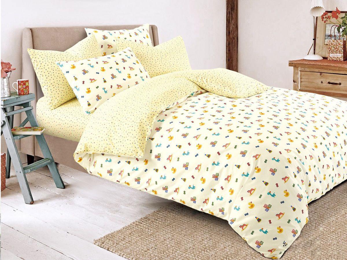 Cleo Комплект в кроватку Игрушки 3 предмета цвет желтый -  Детский текстиль