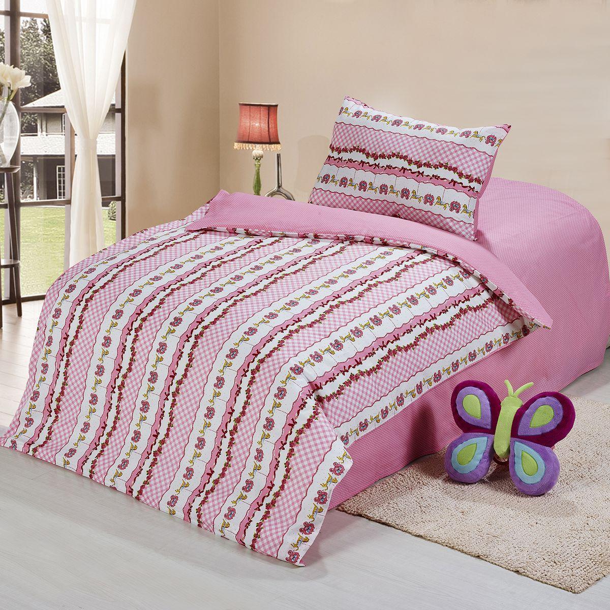 Cleo Комплект в кроватку Нежность 3 предмета цвет розовый