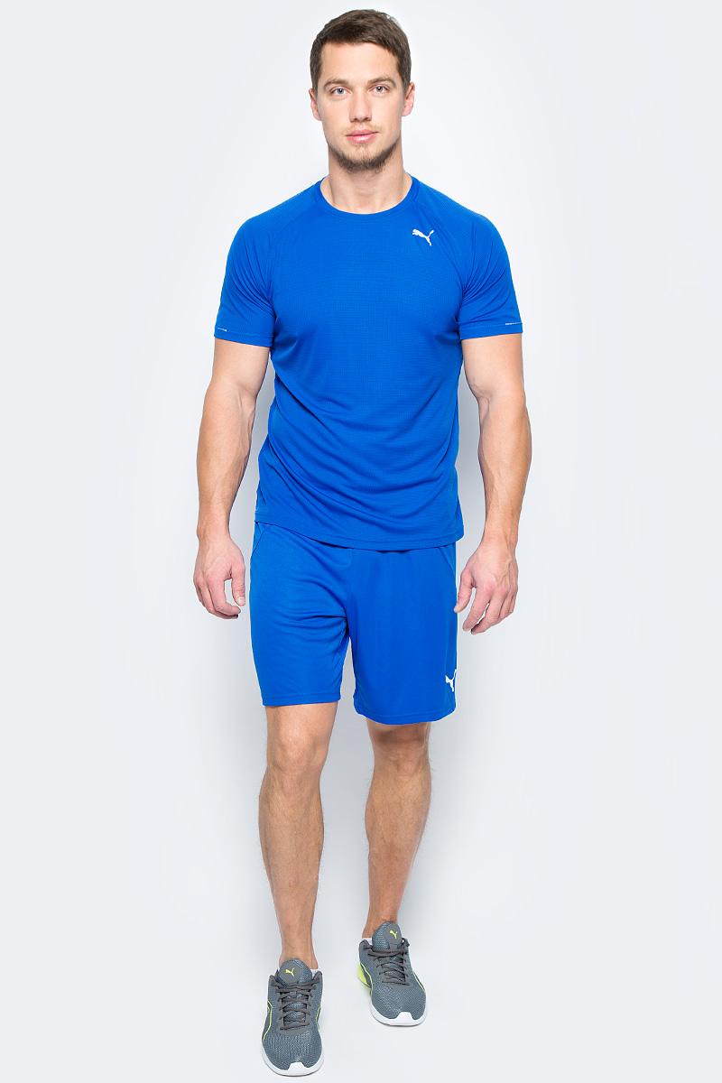 Шорты мужские Puma FtblTRG Shorts, цвет: голубой. 65535950. Размер L (48/50) pair of stylish rhinestone alloy stud earrings for women