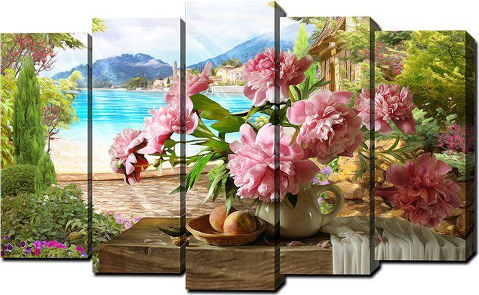 Картина модульная Milarte, 125 х 80 см. V-800 модульная картина топпостерс зеленый бамбук 100х75 см 2 части