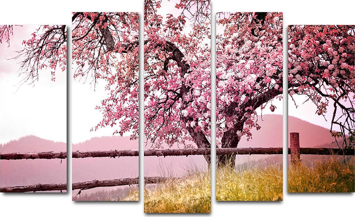 Картина модульная Milarte, 125 х 80 см. X-221HX-221HМодульная картина Milarte - это прекрасное решение для декора помещения. Картина состоит из пяти модулей. Холст натянут на подрамник галерейной натяжкой и закреплен с обратной стороны. Цифровая печать. Изделие устойчиво к выцветанию. Толщина подрамника 2 см, он исключает провисание полотна. Рекомендованное расстояние между сегментами составляет 1,5-2 см.Размер изображения: 80 х 125 см. Размер модулей: 63 х 25 см, 71 х 25 см, 80 х 25 см, 71 х 25 см, 63 х 25 см. Крепление в комплекте. Уход: можно протирать сухой мягкой тканью.
