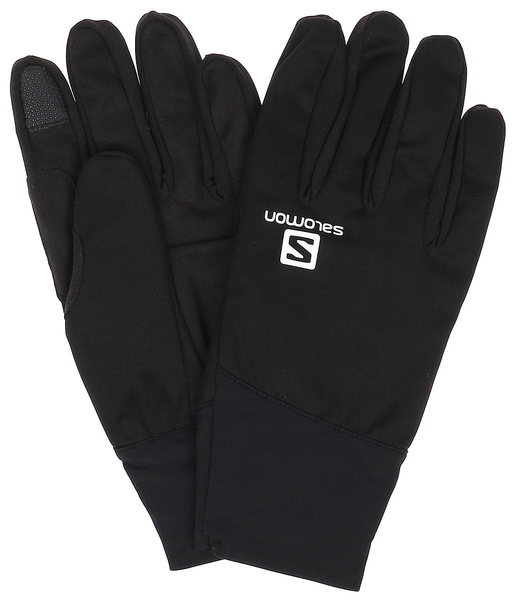Перчатки мужские Salomon Equipe Glove M, цвет: черный. L39504600. Размер XL (9,5)L39504600Equipe Glove с эластичной и комфортной тыльной стороной - это простые беговые перчатки с точной посадкой.