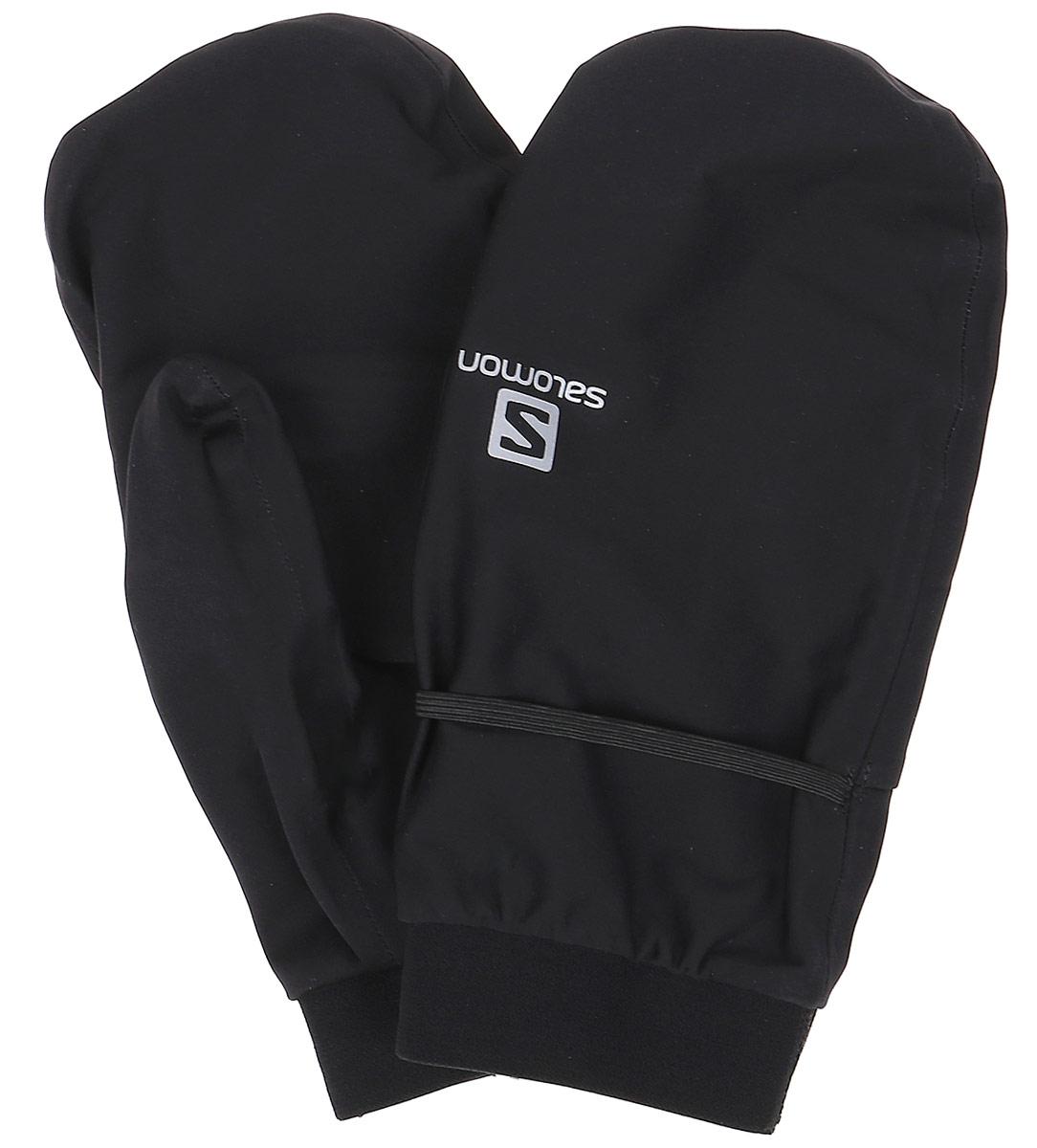 Варежки Salomon Bonatti Wp Mitten U, цвет: черный. L39505700. Размер XL (9,5)L39505700Легкие и полностью непромокаемые BONATTI WP MITTEN идеально подходят для долгих гонок. Их уникальный дизайн включает в себя проем на ладони, который позволяет быстро освободить пальцы и открыть рюкзак или подтянуть шнурки куртки. Либо просто проветрить руки во время бега.