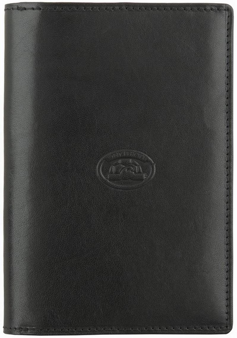 Обложка для автодокументов Tony Perotti, цвет: черный. 271096/1271096/1Две секции-одно для удостоверения личности, другое для вод.уд-ия, отделения для визиток, кредиток, вкладыши под доверенность, тех.документы.
