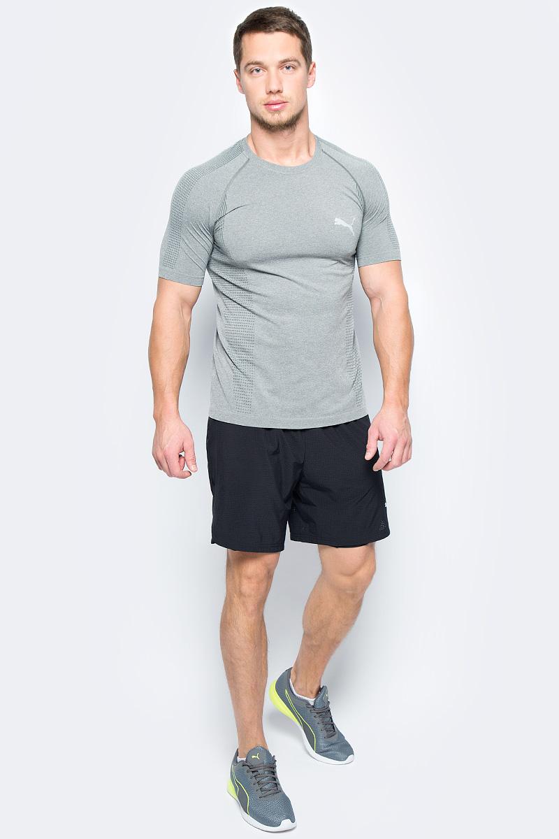 Шорты мужские Puma Pace 2in1 7 Short, цвет: черный. 51555701. Размер XL (50/52)51555701Эти оригинальные тренировочные шорты 2-в-1 изготовлены с использованием высокофункциональной технологии DryCell, которая отводит влагу, поддерживает тело сухим и гарантирует комфорт во время активных тренировок и занятий спортом. Внешние шорты из эластичной, хорошо растягивающейся ткани обеспечивают полную свободу движений, в то время как внутренние шорты выполнены из компрессионного, поддерживающего мышцы материала. Также ткань верхних шорт имеет сетчатую структуру во избежание перегрева, и они декорированы логотипом и другими деталями из светоотражающего материала для обеспечения вашей безопасности в темное время суток. Кроме того, имеется вместительный боковой карман изменяемого объема. Пояс из эластичного материала с кулиской снабжен затягивающимся шнуром для лучшей посадки по фигуре.
