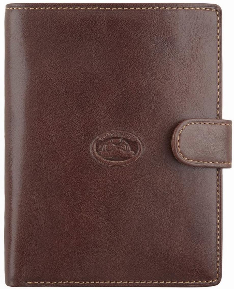 Обложка для автодокументов мужская Tony Perotti, цвет: коричневый. 271236/2271236/2Автономная секция для банкнот, множество файлов для авто документов, отделение для паспорта