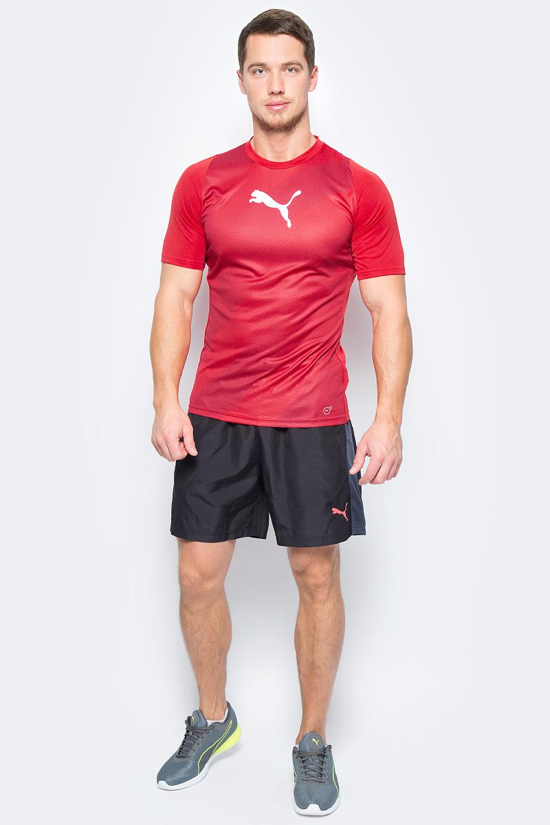 Футболка мужская Puma ftblTRG Graphic Shirt, цвет: красный. 65535551. Размер S (44/46)65535551Модель декорирована логотипом Puma, нанесенным на правую сторону груди методом термопечати. Она изготовлена с использованием высокофункциональной технологии DryCell, которая отводит влагу, поддерживает тело сухим и гарантирует комфорт во время активных тренировок и занятий спортом. Фасон в обтяжку по фигуре оживляется вставками с графическим рисунком. Отделка спины сетчатым материалом обеспечивает отличную вентиляцию и препятствует перегреву.