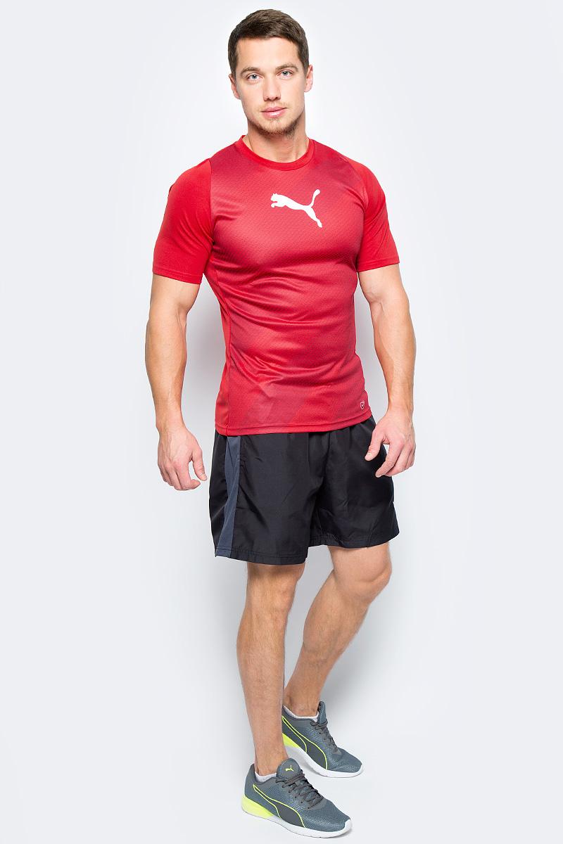 Шорты мужские Puma evoTRG Woven Shorts, цвет: черный. 65534606. Размер L (48/50)65534606Эластичные и дышащие шорты evoTRG Woven Shorts от Puma для тренировок станут идеальным дополнением любой футбольной формы. Дышащий сетчатый материал на спине и боковые вставки Puma Formstrip обеспечивают повышенную циркуляцию воздуха и оптимальную воздухопроницаемость. Шорты сшиты из эластичного материала, который обеспечивает максимальную гибкость и свободу движений. Эластичный пояс со шнурком. Боковые карманы.