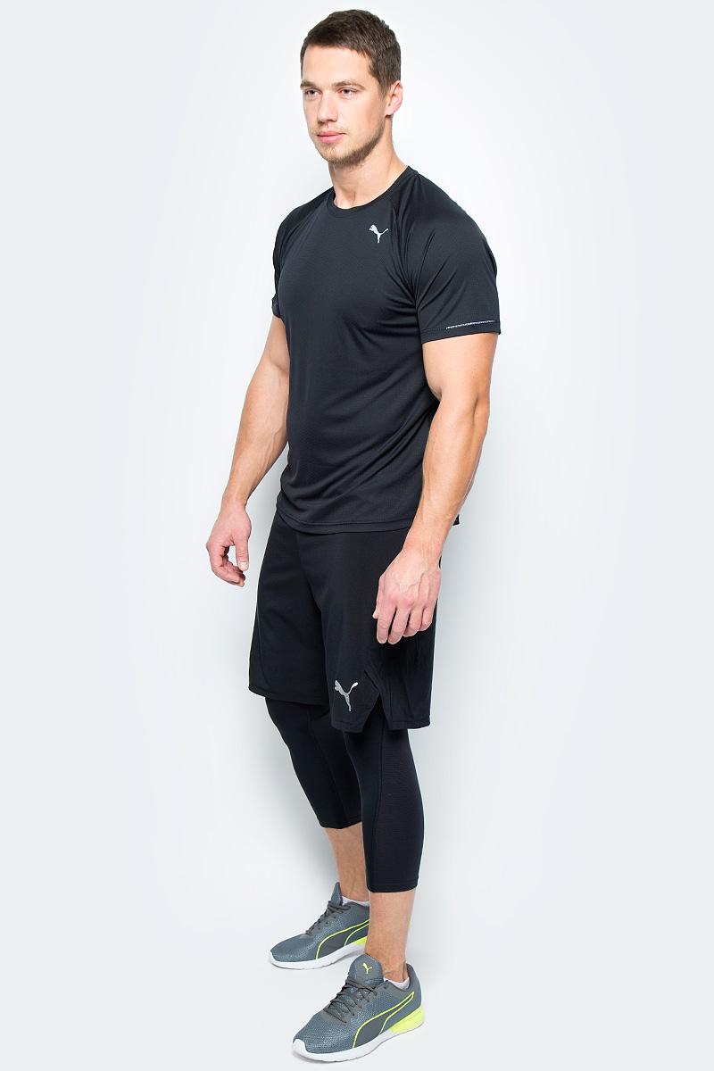 Тайтсы мужские Puma Nitro Vent 2 in 1 Short, цвет: черный. 51001. Размер XL (50/52)51001Модель изготовлена с использованием высокофункциональной технологии DryCell, которая отводит влагу, поддерживает тело сухим и гарантирует комфорт во время активных тренировок и занятий спортом. Сверхэластичный внутренний материал изделия обладает выраженным компрессионным эффектом. Пояс из плотного трикотажа двойной вязки снабжен внутренним затягивающимся шнуром для идеальной посадки по фигуре. Кокетка сзади снабжена прорезями с обработанными лазером краями для вентиляции. Справа имеется карман на молнии, отделанный тесьмой. Также имеются вставки внутри из сетчатого материала. Изделие декорировано логотипом DryCell, нанесенным методом термопечати на пояс и логотипом Puma, также нанесенным методом термопечати. Модель имеет удобную стандартную посадку.