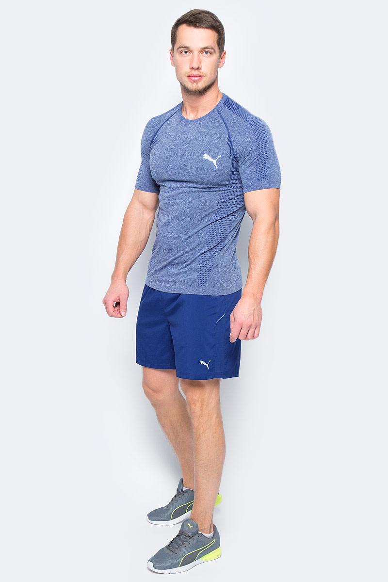 Шорты для бега мужские Puma Core-Run 7 Shorts, цвет: синий. 51501310. Размер L (48/50)51501310Шорты Core-Run 7 Shorts изготовлены с использованием высокофункциональной технологии dryCELL, которая отводит влагу, поддерживает тело сухим и гарантирует комфорт во время активных тренировок и занятий спортом. Они снабжены вместительным внутренним карманом с брелоком для ключей. Логотип и другие декоративные элементы из светоотражающего материала позаботятся о вашей безопасности в темное время суток. Вшитые трусы создают дополнительное удобство. Вставки из сетчатого материала обеспечивают отличную вентиляцию.