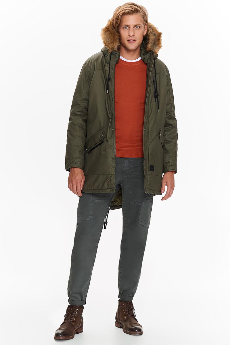 Парка мужская Top Secret, цвет: зеленый. SKU0831ZI. Размер XXL (52) футболка мужская top secret цвет белый spo3466bi размер xxl 52