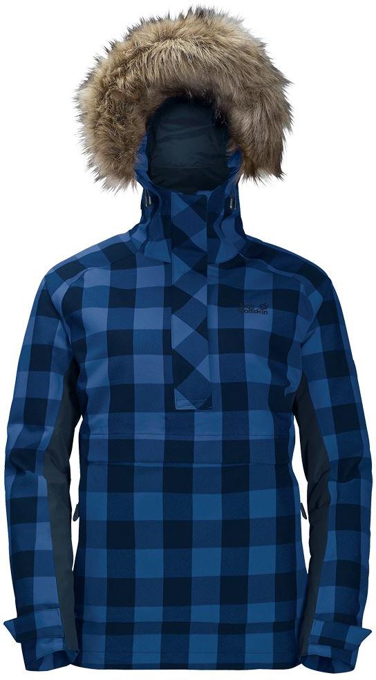 Куртка женская Jack Wolfskin Timberwolf, цвет: темно-синий. 1109881-7822. Размер XL (52/54)1109881-7822Водонепроницаемая утепленная штормовка от Jack Wolfskin с капюшоном из искусственного меха и узором в канадскую клетку, по функциональности, и по стилю штормовка Timberwolf (Тимбервольф) - то, что нужно для долгих походов в лесах Канады. Эта куртка, выполненная в стиле штормовки, не только надежно защищает от непогоды, но также согревает зимой и напоминает о Канаде. Когда погода портится, модель Timberwolf (Тимбервольф) защитит вас от ветра и не даст вам промокнуть за целый день. Синтетический утеплитель Microguard (Майкрогард) согреет вас, когда под ногами будет похрустывать свежий снежок. Особенно удобен глубокий капюшон с опушкой из искусственного меха. Опушка защищает ваше лицо от холодного ветра. Застежка у модели Timberwolf (Тимбервольф) расположена сбоку, чтобы ее легче было надевать и снимать. Куртка имеет вшитый капюшон с возможностью регулировать внутренний объем и область обзора, и съемной оторочкой из искусственного меха, 2 кармана на бедрах, боковую молния.