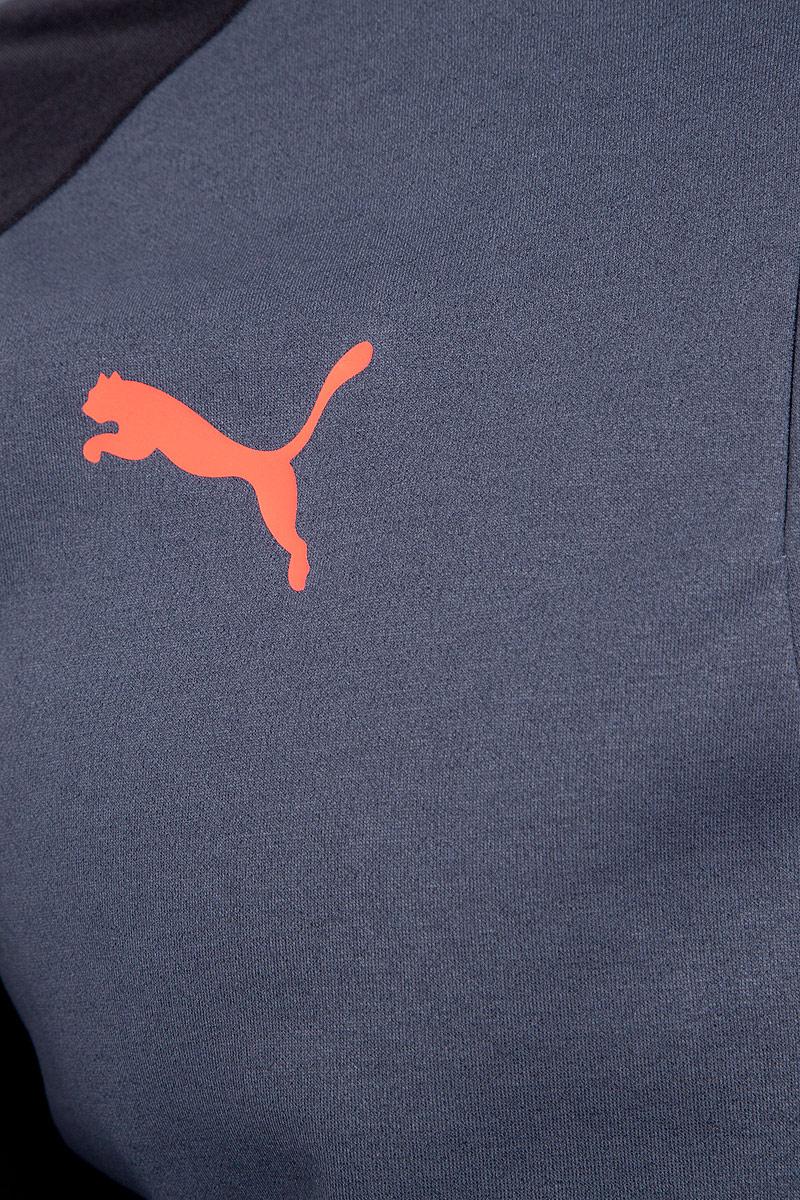 Толстовка мужская Puma evoTRG Winter Top, цвет:  серый, черный.  65542106.  Размер M (46/48) Puma