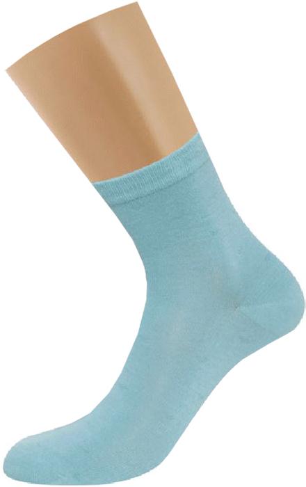 Носки женские Griff, цвет: бирюзовый. D4U7. Размер 35/38D4U7Всесезонные эластичные женские носки из бамбука с оригинальным рисунком с комфортной резинкой.