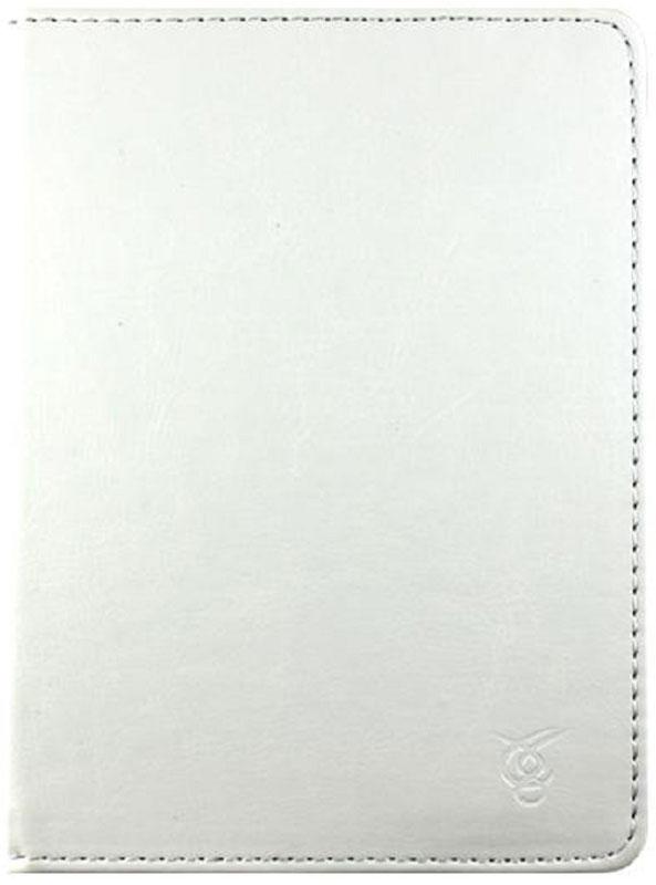 Vivacase Basic, White чехол для электронных книг 6VDG-STER6BS101-wЧехол Vivacase Basic изготовлен из высококачественной, износостойкой ПУ-кожи, обладающей удивительной долговечностью и водоотталкивающими свойствами. Мягкая подкладка приятная на ощупь. Замок-резинка 15 мм. Специальные силиконовые крепления безопасны для устройства, не царапают, не оставляют следов, не подвержены температурным перепадам, надежно удерживают устройство в любой ситуации. Продуманный дизайн обеспечивает свободный доступ к экрану, разъемам и элементам управления устройств.