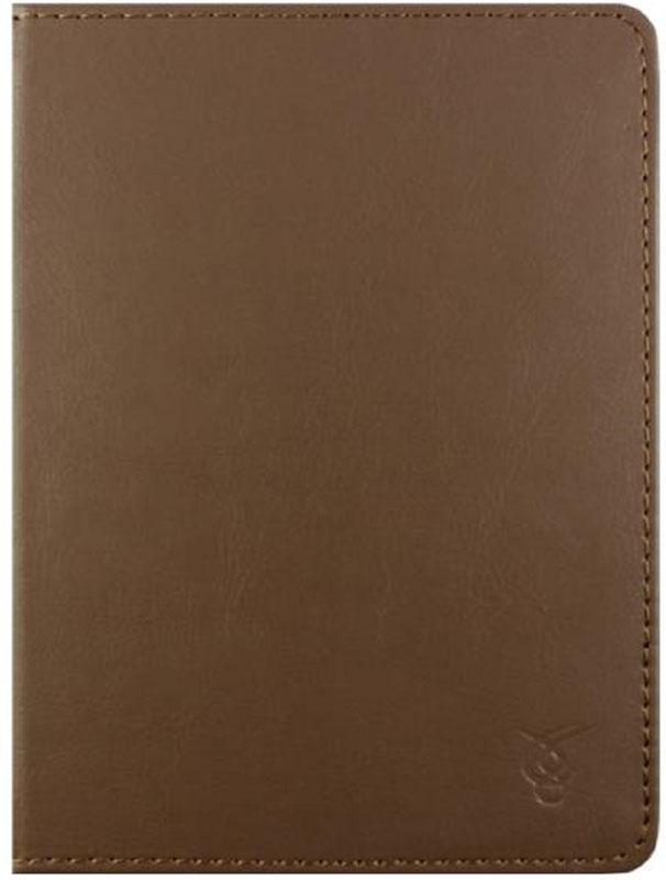 Vivacase Basic, Braun чехол для электронных книг 6VDG-STER6BS105-brЧехол изготовлен из высококачественной, износостойкой ПУ-кожи, обладающей удивительной долговечностью и водоотталкивающими свойствами. Мягкая подкладка приятная на ощупь. Черный замок–резинка 15 мм. Специальные силиконовые крепления безопасны для устройства, не царапают, не оставляют следов, не подвержены температурным перепадам, надежно удерживают устройство в любой ситуации. Продуманный дизайн обеспечивает свободный доступ к экрану, разъемам и элементам управления устройств.