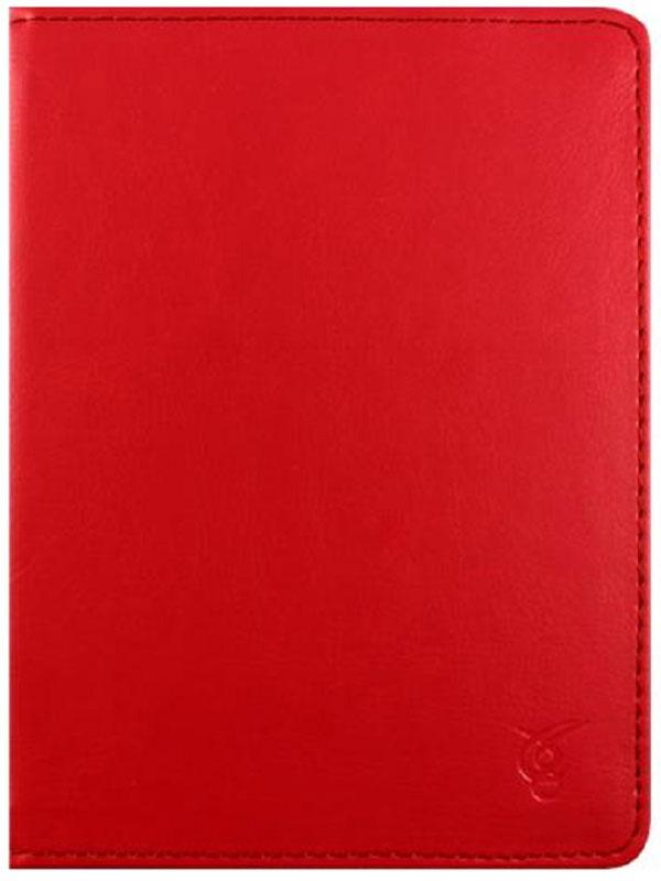 Vivacase Basic, Red чехол для электронных книг 6VDG-STER6BS104-rЧехол Vivacase Basic изготовлен из высококачественной, износостойкой ПУ-кожи, обладающей удивительной долговечностью и водоотталкивающими свойствами. Мягкая подкладка приятная на ощупь. Замок-резинка 15 мм. Специальные силиконовые крепления безопасны для устройства, не царапают, не оставляют следов, не подвержены температурным перепадам, надежно удерживают устройство в любой ситуации. Продуманный дизайн обеспечивает свободный доступ к экрану, разъемам и элементам управления устройств.