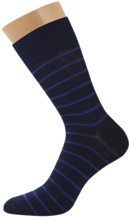 Носки мужские Griff Classic Полоски, цвет: синий. Var.4. Размер 39/41Var.4Классические зимние мужские носки из хлопка с добавлением эластана. С широкой резинкой.Усиление пятки и мыска.