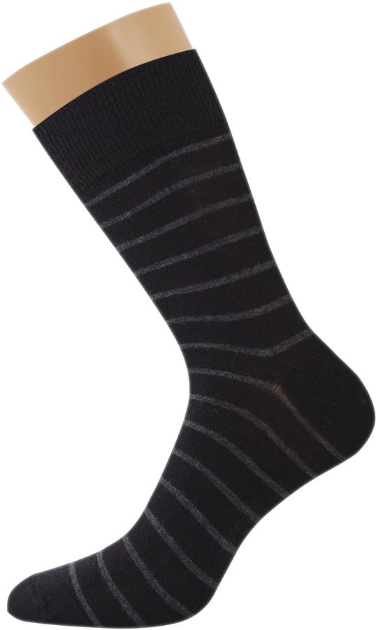 Носки мужские Griff Classic Полоски, цвет: черный. Var.4. Размер 39/41Var.4Классические зимние мужские носки изготовлены из хлопка с добавлением эластана и полиамида. Носки с широкой эластичной резинкой. Усиление пятки и мыска.