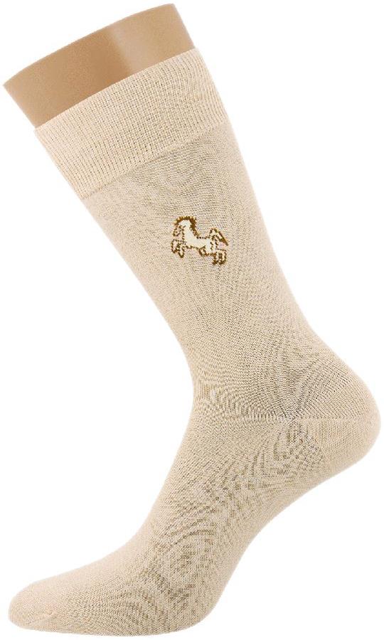 Носки мужские Griff Classic, цвет: бежевый. B1. Размер 39/41B1Классические всесезонные эластичные мужские носки изготовлены из качественного материала на основе хлопка. Носки выполнены с рисунком на паголенке с широкой комфортной резинкой.