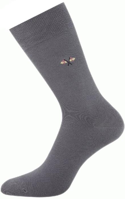 Носки мужские Griff Classic, цвет: светло-серый. A2. Размер 45/47A2Классические всесезонные мужские носки изготовлены из хлопка и полиамида. Носки с рисунком на паголенке с широкой комфортной резинкой.