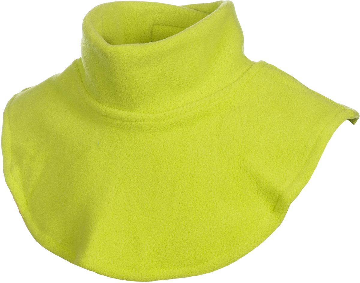 Манишка флисовая детская atPlay!, цвет: салатовый. 1f750. Размер универсальный1f750Манишка из Polar fleece обеспечит дополнительную защиту шеи ребенка от ветра и холода. Размер регулируется удобной застежкой на липучке. Манишки намного удобнее надевать и носить, чем привычные шарфы. Идеально подходит для прогулок осенью, а также активного отдыха на природе морозной зимой.