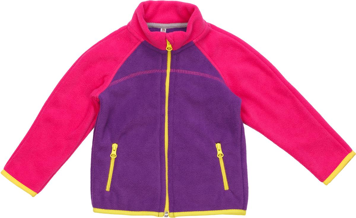 Кофта флисовая для девочек atPlay!, цвет: фиолетовый. 1fjk7511. Размер 1401fjk7511Куртка флисовая для девочки подходит для прогулок в прохладную погоду и для активного отдыха на природе.