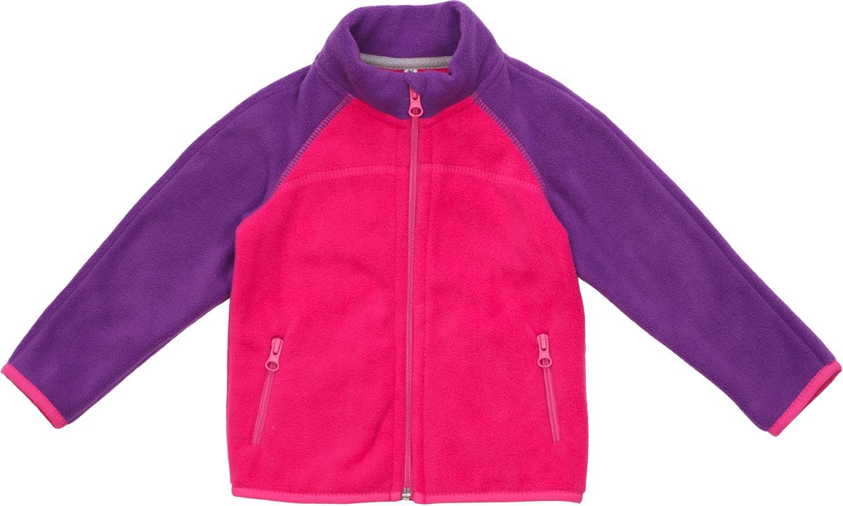 Кофта флисовая для девочек atPlay!, цвет: розовый. 1fjk7511. Размер 1401fjk7511Куртка флисовая для девочки подходит для прогулок в прохладную погоду и для активного отдыха на природе.