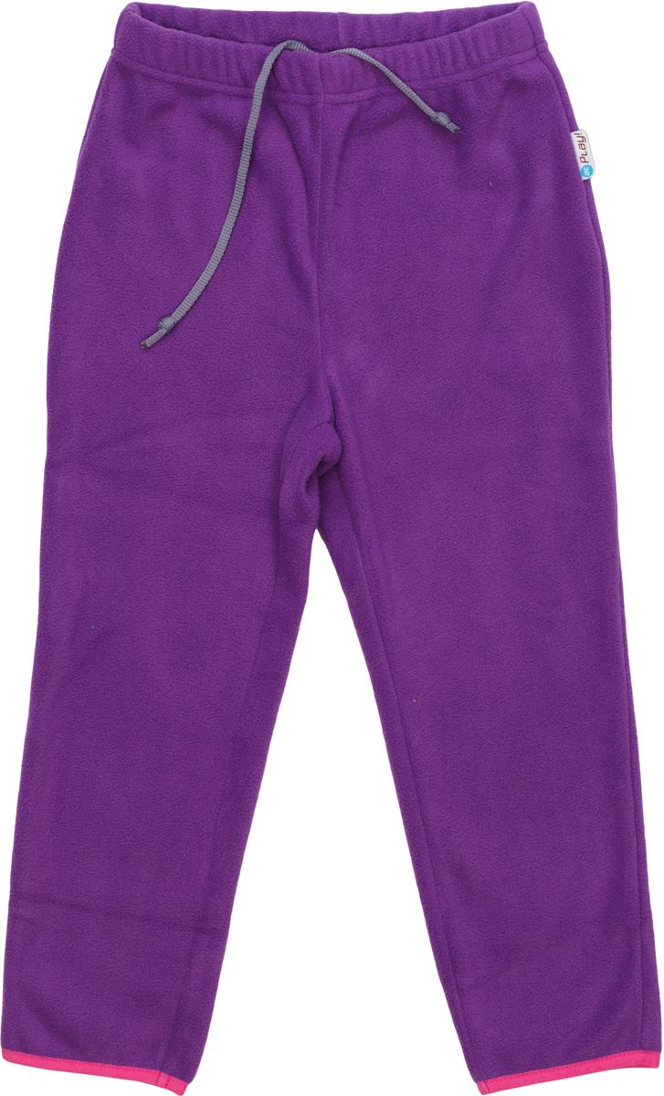 Брюки флисовые для девочки atPlay!, цвет: фиолетовый. 1fpt753. Размер 1221fpt753Брюки флисовые для девочки от atPlay! подходят для прогулок в прохладную погоду и для активного отдыха на природе. Можно носить как самостоятельно, так и в качестве утепляющего среднего слоя под мембранные брюки в зимнее время. Брюки сшиты из удивительно мягкого на ощупь и теплого материала Polar Fleece, который отлично сохраняет тепло тела и хорошо отводит влагу во время активных прогулок. Материал проходит двойную антипиллинговую обработку, предотвращающую появление катышков.