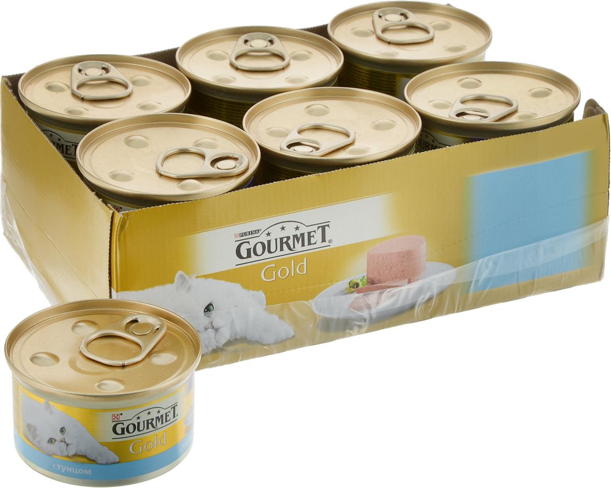 Консервы  Gourmet Gold  для кошек, паштет с тунцом, 12 х 85 г - Корма и лакомства