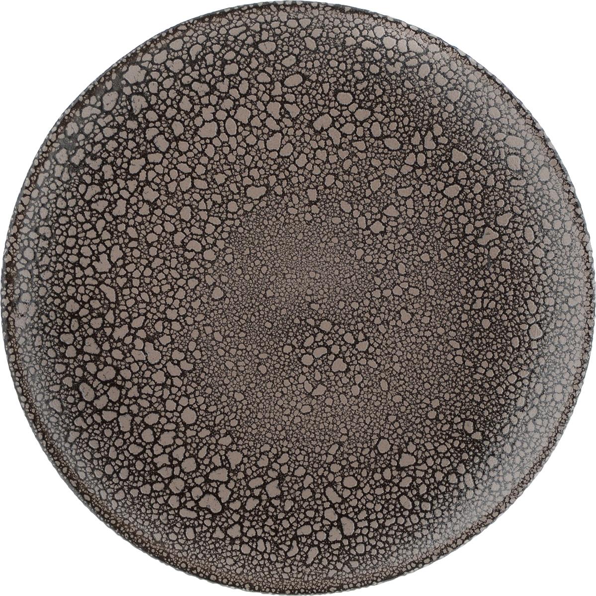 Тарелка Борисовская керамика, цвет: коричневый, серо-бежевый, диаметр 23 см. МРМ00000806МРМ00000806_коричневый в крапинкуТарелка Борисовская керамика, выполненная изглазурованной керамики, имеет оригинальный дизайн.Изделие прекрасно подойдет для сервировки фруктов, подачидесертов и закусок.Такая тарелка прекрасно оформит праздничный стол ипорадует вас и ваших гостей изысканным дизайном и формой.