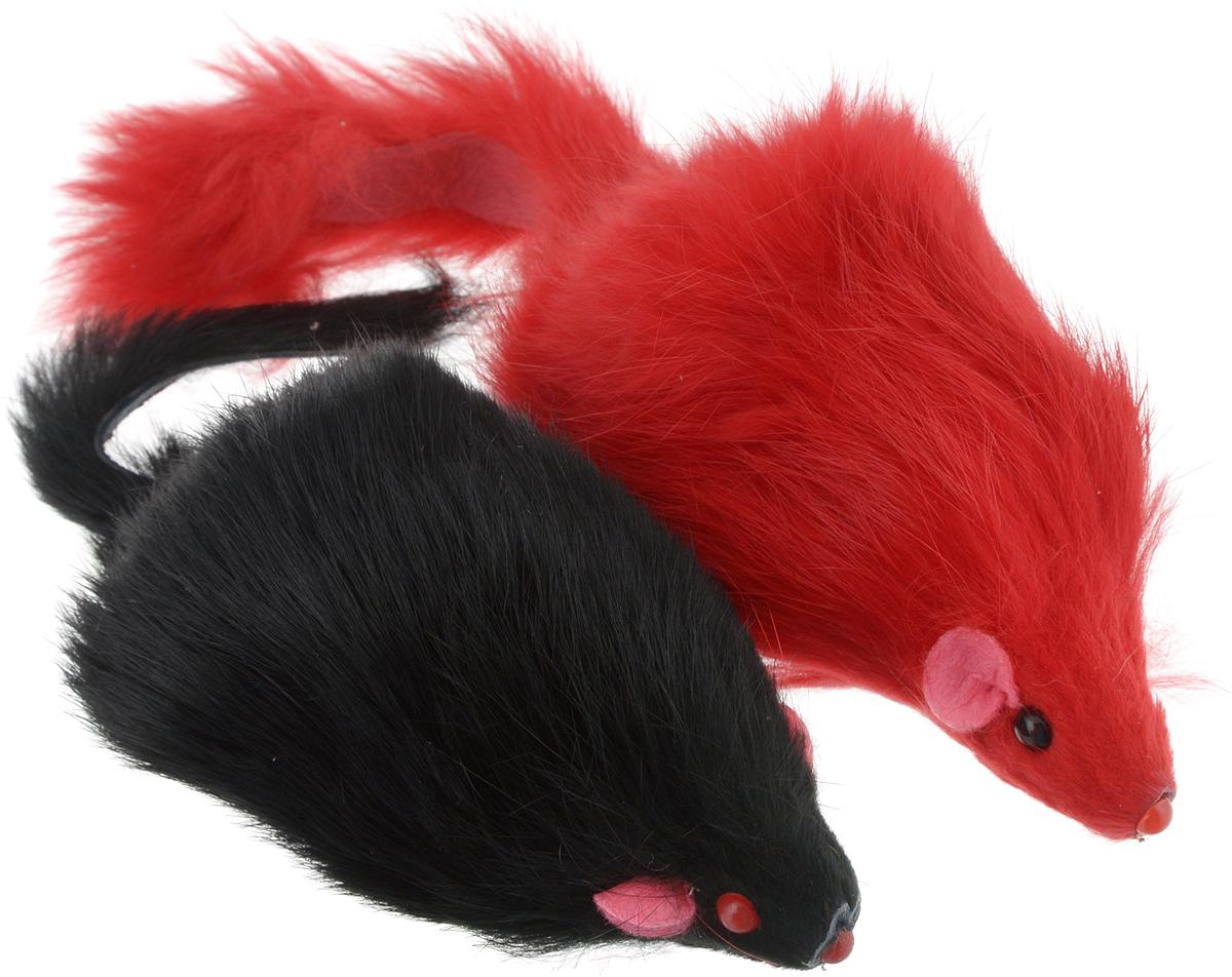 Игрушка для кошек Triol Мышь, цвет: красный, черный, 2 штЧ-08100_черный, красныйИгрушка для кошек Triol Мышь привлечет внимание вашей пушистой охотницы. Забавные мышки яркого цвета выполнены из пластика и натурального меха. Играя с этой забавной игрушкой, маленькие котята развиваются физически, а взрослые кошки и коты поддерживают свой мышечный тонус. Мышки не позволят заскучать вашему любимцу и увлекут его на долгое время.