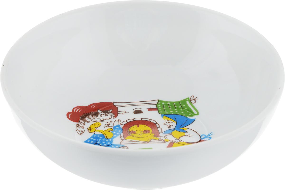 Миска Дулевский Фарфор Дед и бабка, 350 мл039072Миска Дулевский Фарфор Дед и бабка выполнена из высококачественного фарфора, покрытогоглазурью. Изделие дополнено красочным рисунком. Такая миска пригодится на любой кухне. В нейможно сервировать различные блюда или использовать как суповую тарелку.Объем: 350 мл.