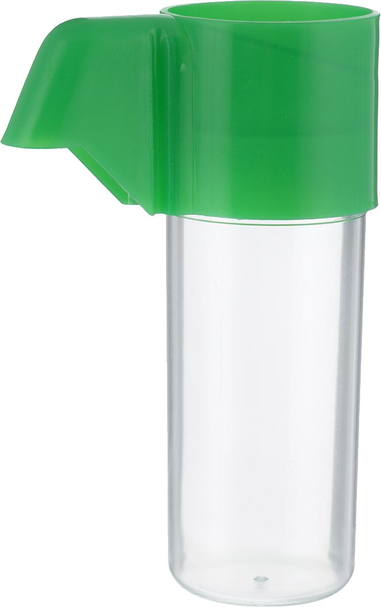 Поилка для птиц Каскад Бриллиант, с носиком, малая, цвет: зеленый33300512_зеленыйПоилка для птиц Каскад Бриллиант понравится вашему питомцу. Изделие выполнено из высококачественного пластика.Воду невозможно пролить, благодаря надежной конструкции. Высота поилки: 10,5 см.