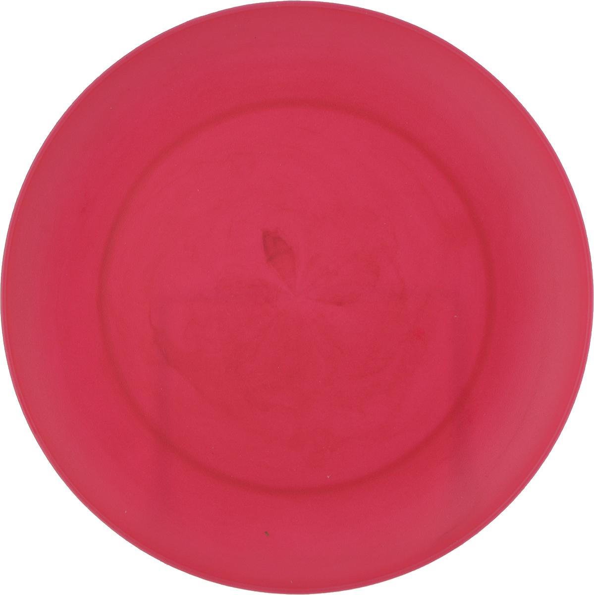 Тарелка Gotoff, цвет: малиновый, диаметр 20,3 смWTC-271_малиновыйТарелка Gotoff, цвет: малиновый, диаметр 20,3 см