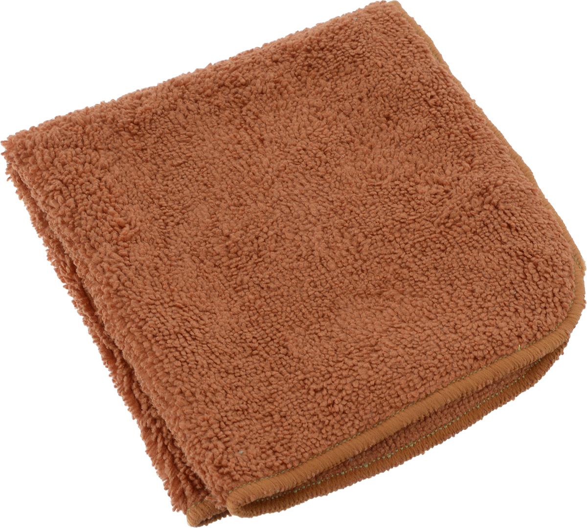 Салфетка для уборки Meule, универсальная, цвет: коричневый, 30 х 30 см4607009241203_коричневыйМягкая салфетка Meule повышенной плотности позволяет убирать весь дом. Она выполнена из микрофибры и полиамида. У салфетки двусторонняя структура с хорошо выраженными ворсинками с одной стороны и удлиненным ворсом с другой, что делает ее идеальным продуктом высочайшего качества для ухода за абсолютно любыми типами полов, мебели, стеклянными и зеркальными поверхностями.Впитывает влагу, полирует поверхности, удаляет загрязнения и пыль.Можно использовать как с моющими средствами, так и самостоятельно.Легко стирается, долговечна в использовании.
