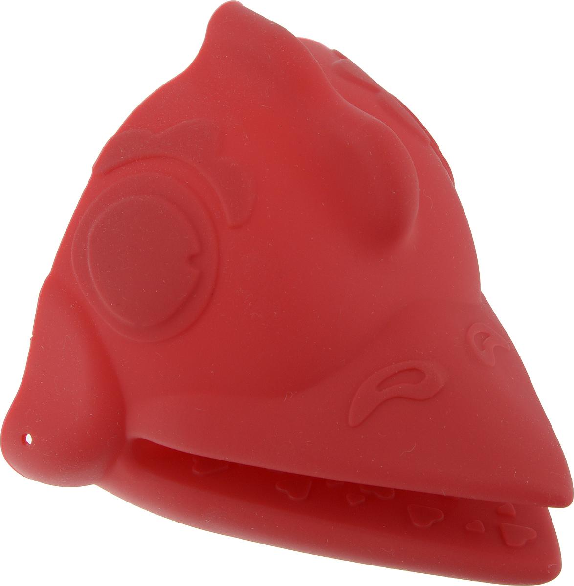"""Силиконовая прихватка Marmiton """"Петух"""" позволяет защитить ладонь и пальцы от  нежелательного воздействия высоких температур. Ребристая поверхность предотвращает  скольжение. С помощью такой рукавицы ваши руки будут защищены от ожогов, когда вы будете  ставить в печь или доставать из нее выпечку. Изделие оснащено петелькой для  подвешивания на крючок."""