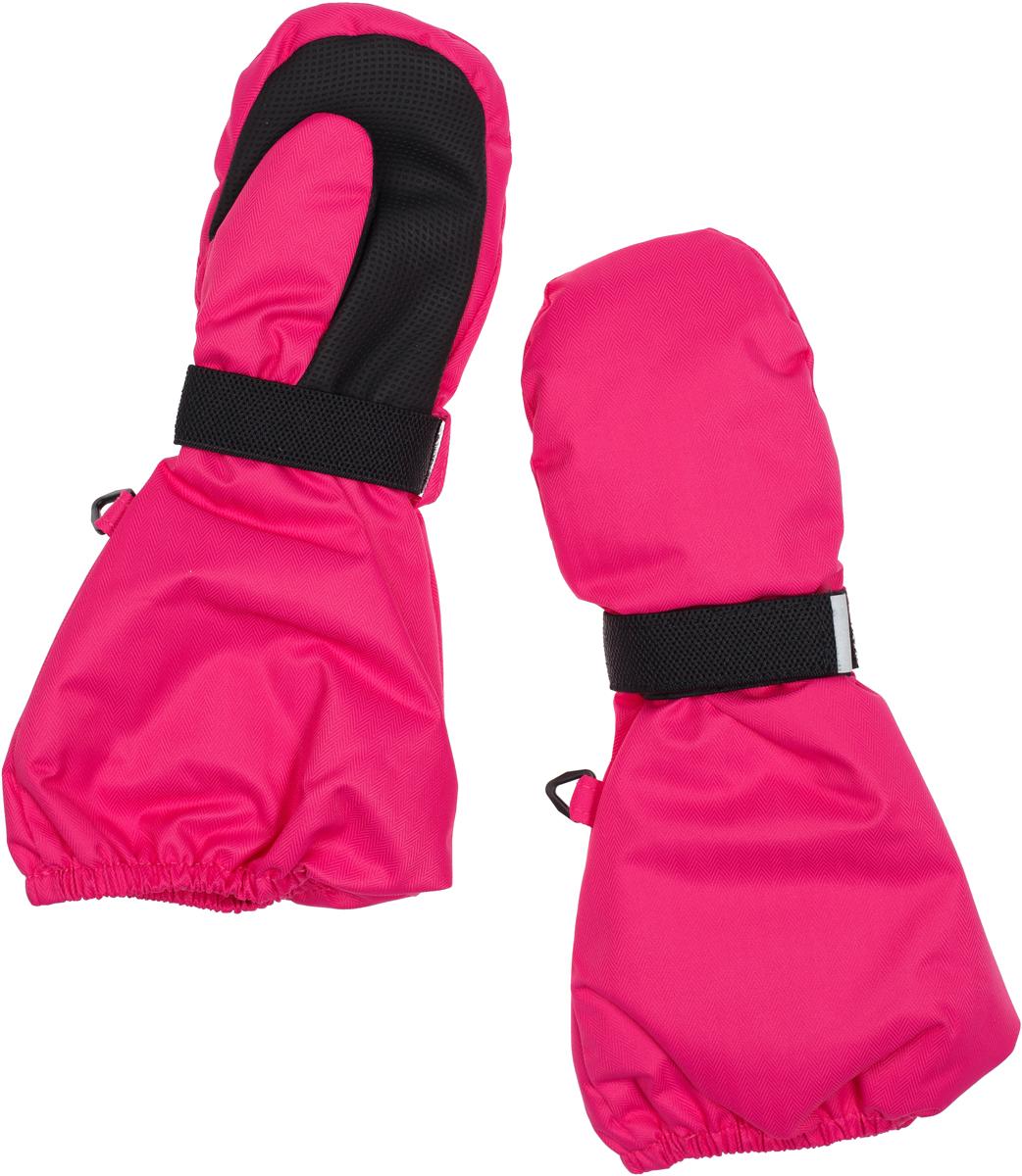 Варежки-краги для девочки atPlay!, цвет: розовый. 1mit7441. Размер 51mit7441В варежках-крагах от atPlay! ребенку не страшен ни снег, ни мороз. Ткань верха в сочетании с дышащими свойствами мембраны 10000/10000 и водоотталкивающим покрытием Teflon защищает от мокрого снега и от ветра. Ладонь усилена вставками из прорезиненной ткани. Удобный эластичный хлястик с липучкой, надежно фиксирует руку ребенка в варежке.
