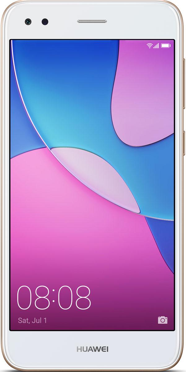 Huawei Nova Lite, Gold51091VQCДизайн, красота, производительность - Huawei Nova Lite совершенен во всем. Huawei Nova Lite с 5-дюймовым HD-экраном и 2.5D стеклом, в металлическом корпусе с пескоструйной обработкой граней станет великолепным дополнением вашего стиля.Надежность, скорость, функциональность, мгновенное выполнение операций одним касанием! Усовершенствованная система идентификации по отпечаткам пальцев Huawei Nova Lite позволяет разблокировать смартфон за 0,5 секунды. Сканер отпечатков пальцев можно использовать не только для разблокировки смартфона, но и для доступа ко множеству функций: управление будильниками, ответ на вызовы, а также открытие и закрытие панели уведомлений.С основной 13 МП камерой и фронтальной 5 МП камерой Huawei Nova Lite ваши фотографии выглядят яркими и по-настоящему живыми. Умная LCD вспышка позволяет делать великолепные снимки даже в условиях низкой освещенности.С Huawei Nova Lite вы всегда будете в курсе событий! Высокоемкая батарея 3020 мАч обеспечивает невероятно долгое время работы смартфона без подзарядки. 100% заряд аккумуляторной батареи - до 2 дней непрерывного прослушивания музыки, до 15 часов просмотра фильмов в формате HD или до 12 часов нахождения в интернете при 4G подкючении.Интерфейс EMUI 5.1 на платформе Android 7.0 изучает ваши мобильные привычки и отвечает вашимпотребностям. Функция отправки файлов позволяет передавать данные проще и быстрее, чем по Bluetooth. Используя функцию длинного скриншота, вы сможете фиксировать объемные текстовые сообщения, не разбивая их при этом на несколько частей. Режим защиты зрения регулирует яркость экрана, снижая вредное УФ-излучение и предотвращая усталость глаз.Телефон сертифицирован EAC и имеет русифицированный интерфейс меню и Руководство пользователя.