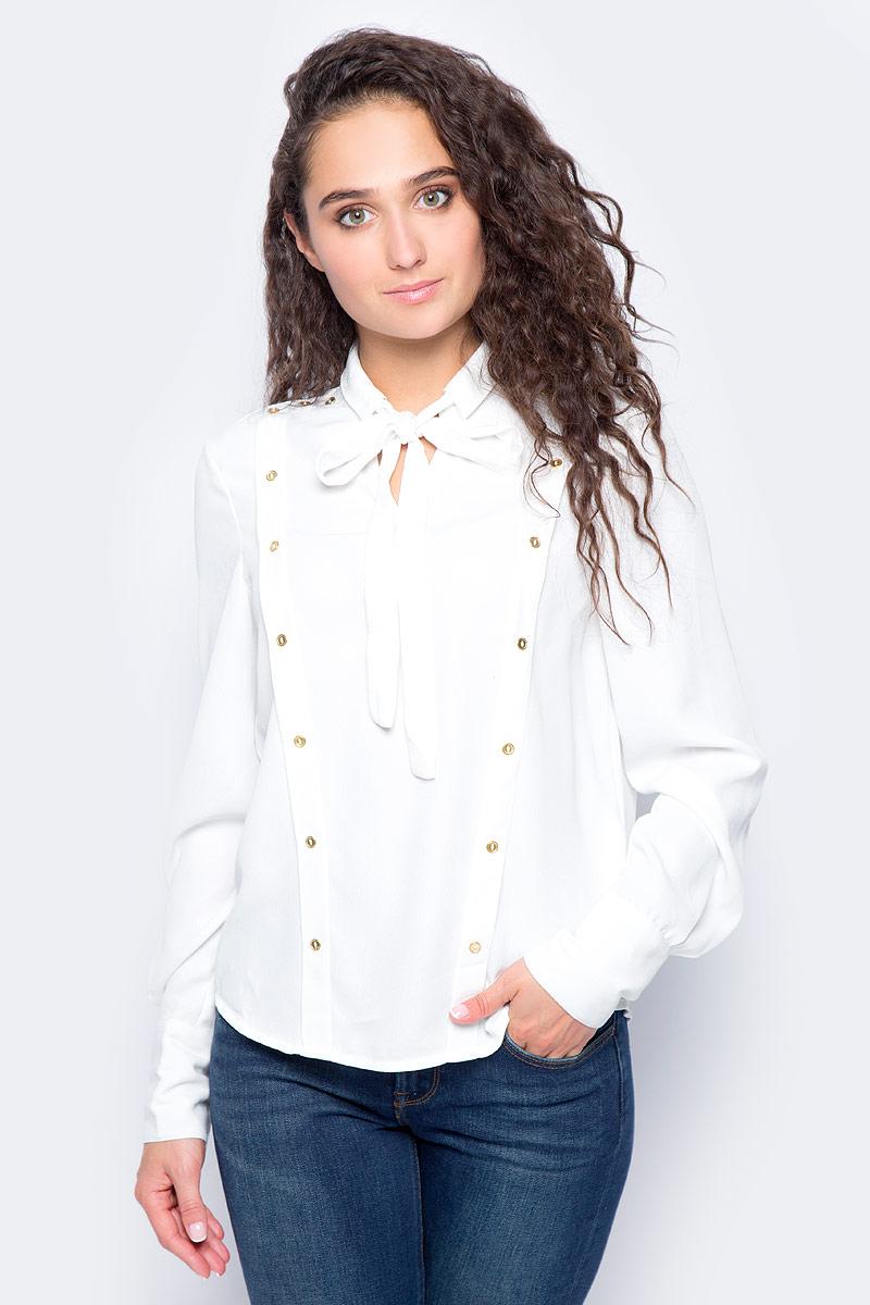 Блузка женская Vero Moda, цвет: белый. 10185897_Snow White. Размер XS (40/42) блузка женская vero moda цвет черный 10186375 black размер xs 40 42
