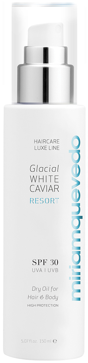 xbalamque spa and resort 4 п ов юкатан Miriam Quevedo Сухое масло для волос и тела SPF30 (Glacial White Caviar Resort SPF30 Dry Oil For Hair and Body) 150 мл